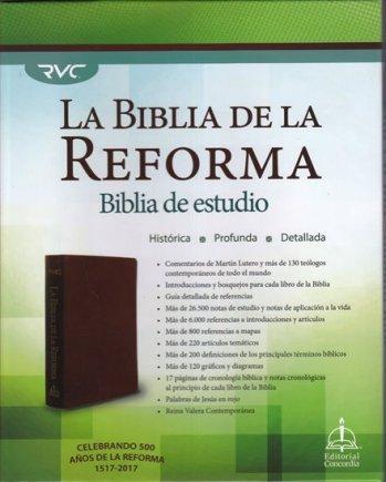 La Biblia de la Reforma - Biblia de Estudio (tapa de piel)