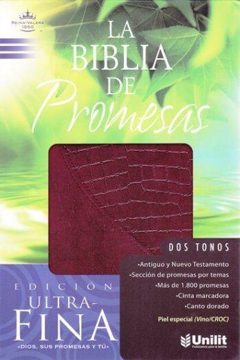 Biblia de Promesas RVR60 Ultra Fina Letra Grande