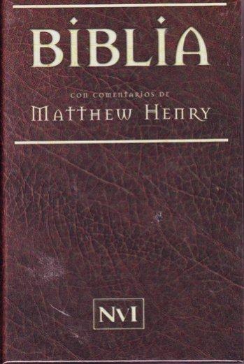 La Biblia con comentarios de Matthew Henry (tapa dura)