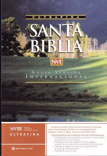 Biblia NVI - Ultrafina con glosario y mapas (pasta dura)