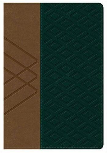 Biblia RV60 Letra Grande Tamaño Manual con Referencias  (Habano / verde oscuro símil piel)