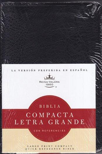 Biblia RV60 Compacta Letra Grande con Referencias  (Negro