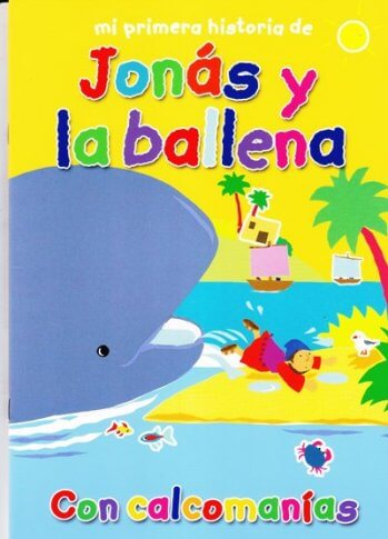 Jonás y la ballena - con calcomanías re-utilizables