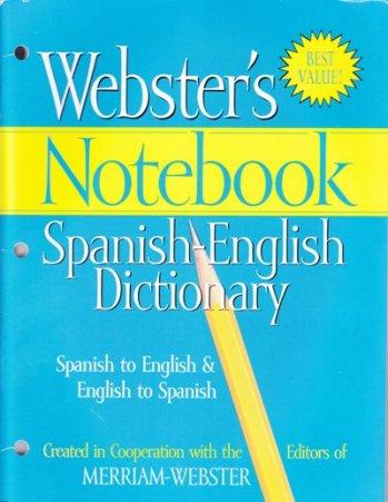 Webster Diccionario Español / Inglés - English / Spanish para cuaderno 3 anillos