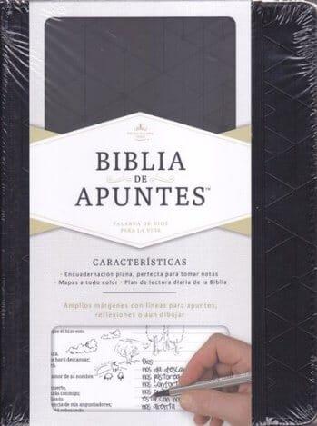 Biblia de Apuntes RVR1960 - Negro (símil piel)
