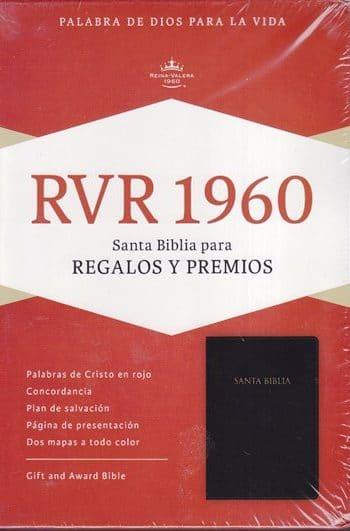 Santa Biblia RVR60 - Regalos y Premios Imitación Piel - Negro