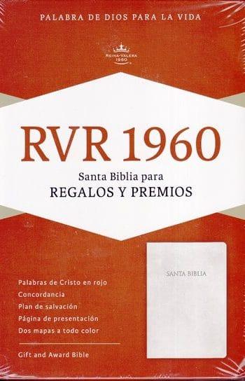 Santa Biblia RVR60 - Premios y Regalos Imitación Piel - Blanca