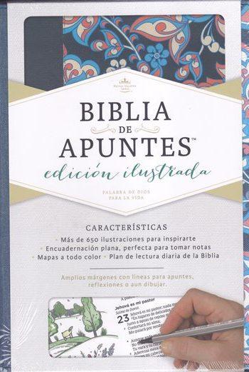 Biblia de Apuntes RVR1960 - Illustrada (tela impresa)
