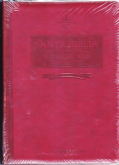 Santa Biblia RVR60 - letra super gigante con referencias inmediantes - cierre y indice - vino