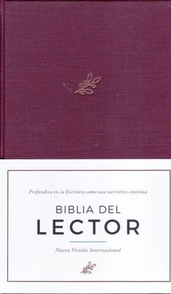 Biblia del Lector NVI narrativa continua - vino en tela (pasta dura)