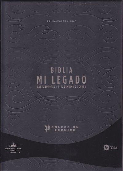 Biblia  RVR60 Mi Legado - cuero y paginas premium